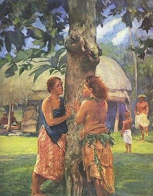 Fagaloa Bay - John LaFarge, Portrait of Faase, the Taupou of the Fagaloa Bay (1881)