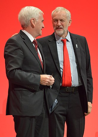 Political positions of Jeremy Corbyn - Corbyn and Shadow Chancellor John McDonnell at the 2016 Labour Party Conference
