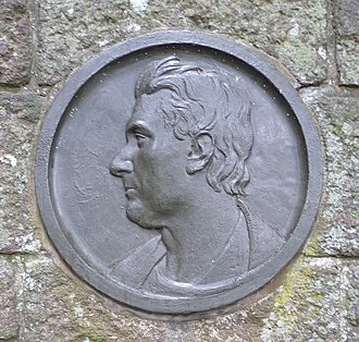 John Rennie the Elder - Portrait on the John Rennie Memorial at Phantassie, East Linton