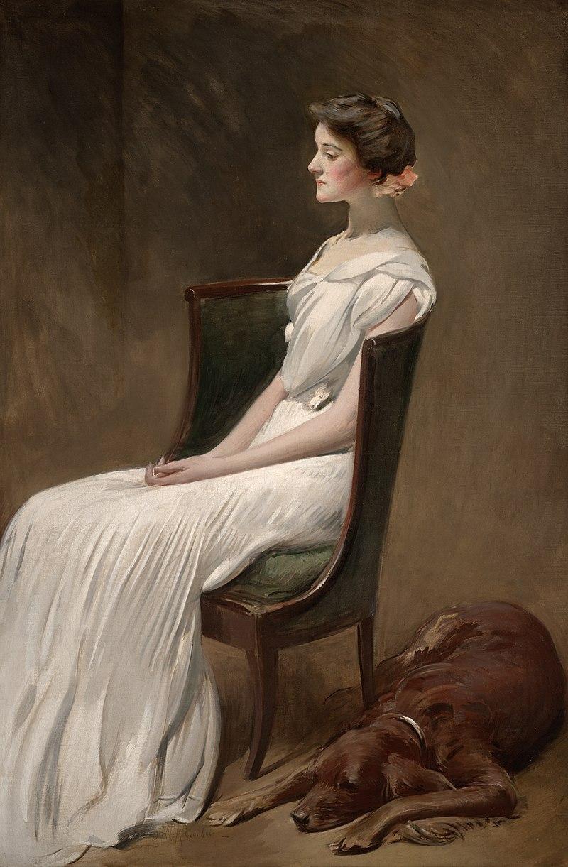 Джон Уайт Александр - мисс Дороти Куинси Рузвельт (позже миссис Лэнгдон Гир) - 2007.36 - Далласский музей Art.jpg