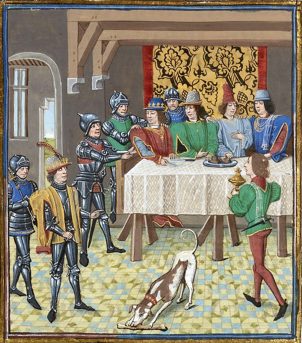 John the Good king of Fra ordering the arrest of Charles the Bad king of Navarre