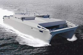 Artist impression of Spearhead-class expeditionary fast transport