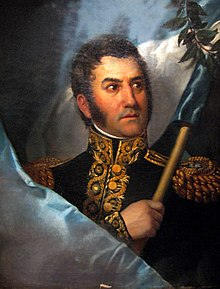 oil paining of Jose' e San Martin