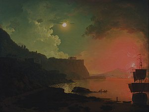 Vesuvius in Eruption (Wright painting) - Vesuvius from Posillipo by Joseph Wright of Derby (Yale Center for British Art, New Haven, Connecticut)
