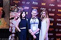 Julia Hart, Tim League and Brit Marling red carpet Fantastic Fest 2015-9888 (27438747835).jpg