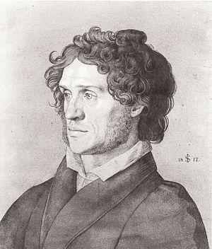 Ferdinand Olivier - Portrait  of Olivier by Julius Schnorr von Carolsfeld  (1817)