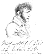 Julius von Voss, Zeichnung von E. T. A. Hoffmann (Quelle: Wikimedia)