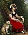 Junges Mädchen mit Pudel 1817.jpg