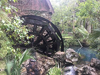 Civilian Conservation Corps - Millhouse and waterwheel at Juniper Springs Florida built by the CCC