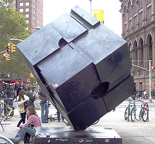 <i>Alamo</i> (sculpture) sculpture at Astor Place, New York City, United States