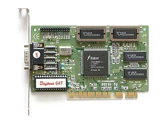Trident Microsystems - Video card with Trident TGUI9680 (Daytona 64T), manufactured by Palit Microsystems