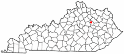 Location of Mount Sterling, Kentucky