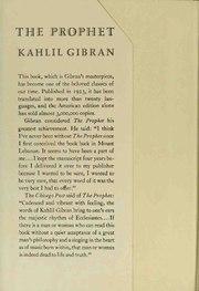 Khalil Gibran The Prophet poem