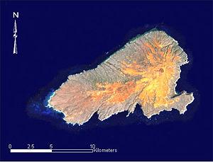 Kahoolawe - Landsat satellite image of Kaho'olawe