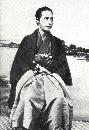 Katsu Kaishū - Kaishū Katsu seated in traditional clothing