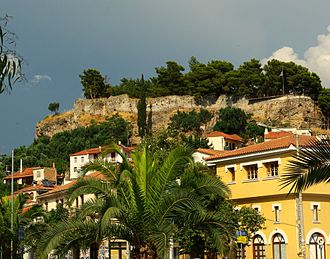 Kalamata - View of the Kalamata Castle