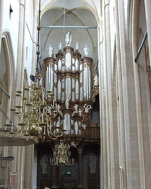 A picture of the organ at Bovenkerk, Kampen. One of the organs that has been recorded for Hauptwerk