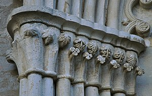Klinte Church - Carved capitals of the choir portal