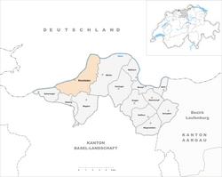 Karte Gemeinde Rheinfelden 2010