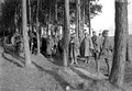 Kavallerie Offiziere vor der Uebungsbesprechung in der Ajoie - CH-BAR - 3241074.tif
