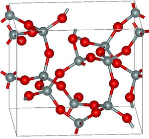 Keatite - Crystal structure