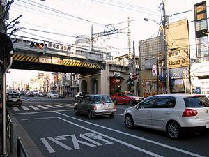 Horikirishōbuen Station - Image: Keisei Horikirishobuen sta 003