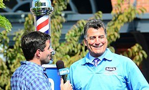 Keith Hernandez - Hernandez being interviewed after having his mustache shaved off