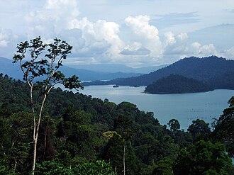 Kenyir Lake - Kenyir Lake with surrounding jungle