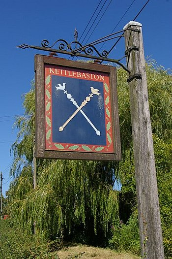 English: Kettlebaston village sign
