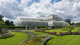 Landscape architecture - Royal Botanic Gardens, Kew, London, established 1759 The Palm House built 1844–1848 by Richard Turner to Decimus Burton's designs