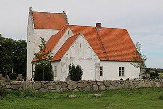 Kiaby Church church building in Kristianstad Municipality, Skåne County, Sweden