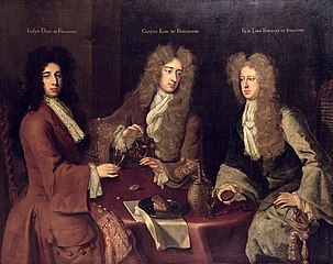 Godfrey Kneller  Kingston, Burlington und Berkeley (Evelyn Pierrepont, 1st  Duke of Kingston-upon-Hull (ca. 1655–1726)  Charles Boyle, 2nd Earl of  Burlington ... 4f4efa4216