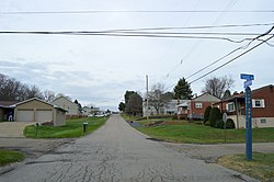 Residential neighborhood south of Aliquippa