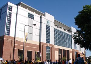 Kinnick Stadium - Image: Kinnick Stadium Press Box