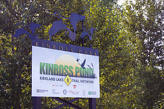 Kirkland Lake - Kinross Pond sign