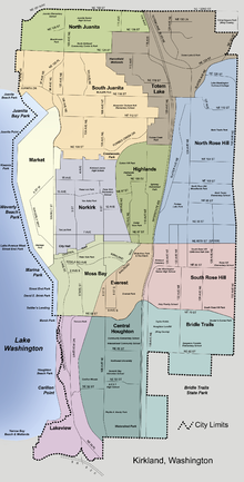 Redmond Wa Zip Code Map.Kirkland Washington Wikipedia