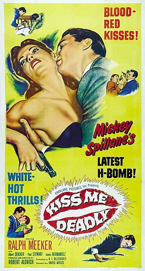 Michael Luciano - Theatrical release poster for Kiss Me Deadly (1955)