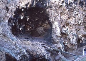 Klasies River Caves - Klasies River Mouth Cave entrance