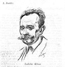 Ladislav Klíma na kresbě Alfréda Justitze