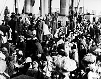 Korean refugees aboard SS Meredith Victory in December 1950 (NH 95597).jpg