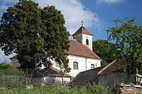 Kostel svatého Bartoloměje - pohled zezadu, Žďárná, okres Blansko.jpg
