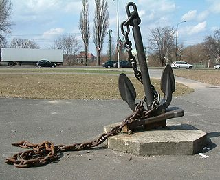 Anchor Device used to connect a vessel to the bed of a body of water to prevent the craft from drifting