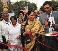 "Krishna Tirath inaugurating the ""Vatsalya Mela – 2011"", at Dilli Haat in New Delhi on November 14, 2011. The Secretary, Ministry of Women and Child Development, Shri D.K. Sikri is also seen.jpg"