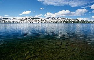 Hattfjelldal - View of the lake Krutvatnet