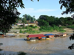 Kuala Tahan - Kuala Tahan from the Taman Negara National Park