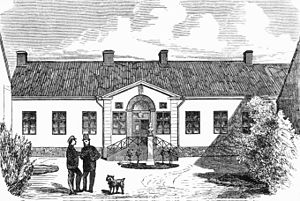 Karolinska Institute - The institute's original building as it appeared in the early 1860s