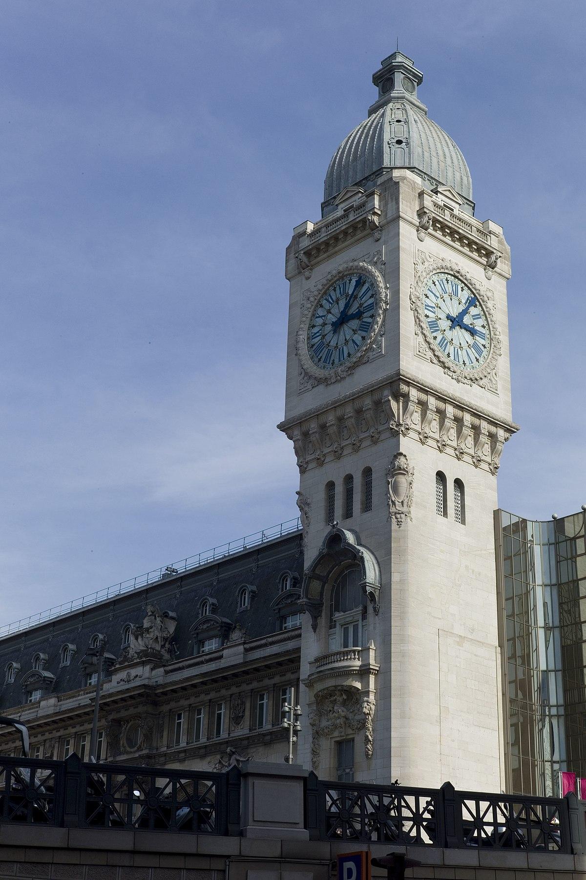 Horloge monumentale wikip dia - Gare de lyon jardin des plantes ...