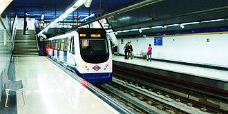 Argüelles (Madrid Metro) - Line 3 platforms, Argüelles