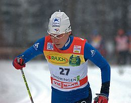 LAURENT PHILIPPOT Karine Tour de Ski 2010.jpg