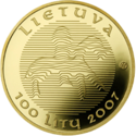 LT-2007-100litų-Millennium of the name of Lithuania-a.png